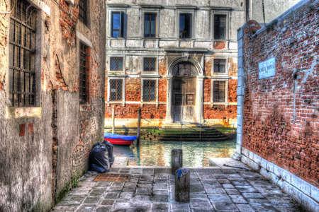 backstreet: hdr backstreet in Venice, Italy