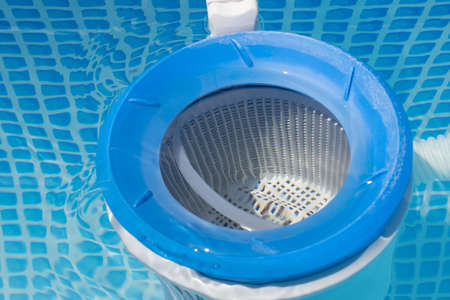 close up of a pool filter Banque d'images