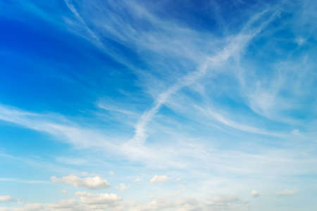 stratus: blue sky and white clouds