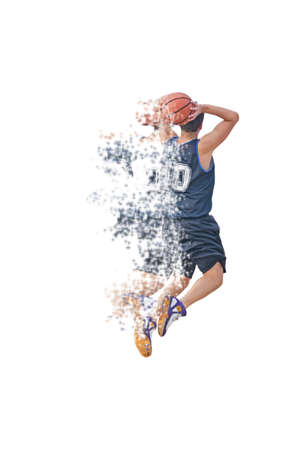 dispersion: basketball player with dynamic effect