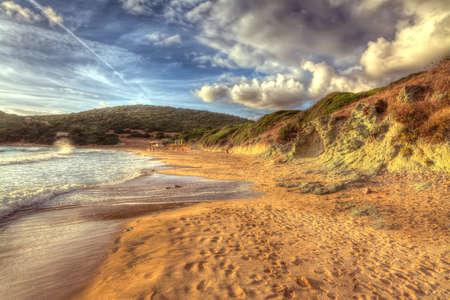 foreshore: hdr foreshore in Poglina beach, Sardinia