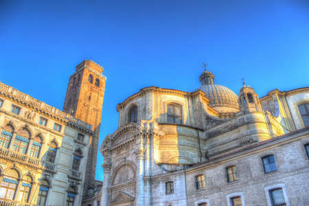 San Geremia steeple and dome in Venice, Italy. Processed for hdr tone mapping effect photo