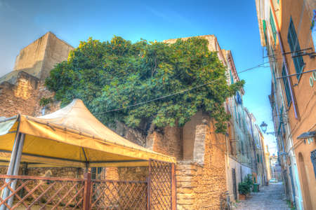 glimpse: glimpse of a backtreet in Alghero old town. Heavy processed for hdr tone mapping effect.