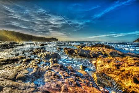 ferro: scenic shore in Porto Ferro beach, Italy