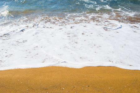 ferro: close up of a golden shore in Sardinia. Shot in Porto Ferro, Italy