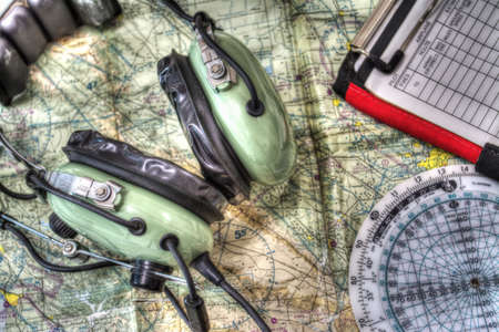 close up of pilot tools in hdr tone mapping effect