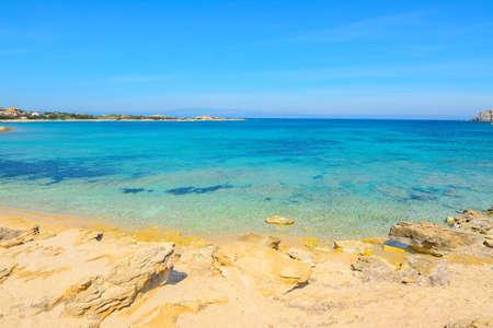 capo: turquoise water in Capo Testa, Sardinia