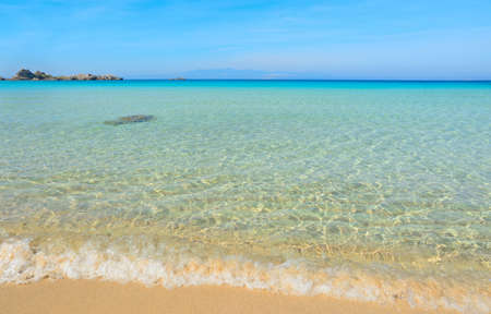 foreshore: Capo Testa foreshore on a clear summer day, Sardinia Stock Photo
