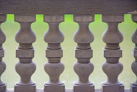 banister: close up of a banister colonnade