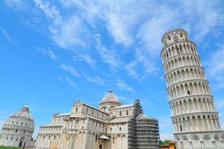 world famous Piazza dei Miracoli in Pisa, Italy Archivio Fotografico