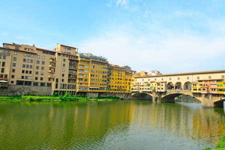 arno: Ponte Vecchio over Arno river in Florence, Italy Stock Photo