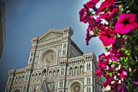 santa maria del fiore: front view of Santa Maria del Fiore cathedral in Florence, Italy