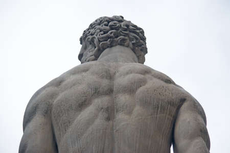 detail of Hercules statue seen from behind