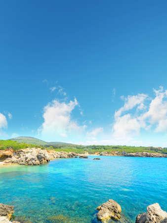 shoreline: clouds over Alghero shoreline, Sardinia