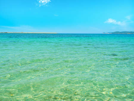 crystal clear: crystal clear water on a sunny day in Alghero, Italy