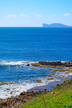 capo: alghero coastline with capo caccia on the background, Sardinia