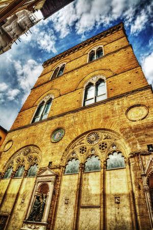 Orsanmichele church in Florence, Italy Banco de Imagens