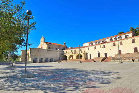 mapped: Valverde sanctuary square in Alghero, Italy Stock Photo