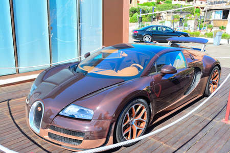 PORTO CERVO, ITALY - JULY 29, 2015: Bugatti Veyron Rembrandt