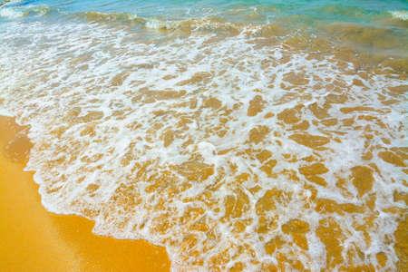 foreshore: white water in Porto Ferro foreshore, Sardinia