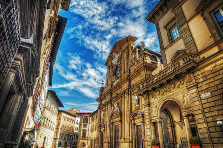 or san michele: San Michele and Gaetano church in Florence, Italy