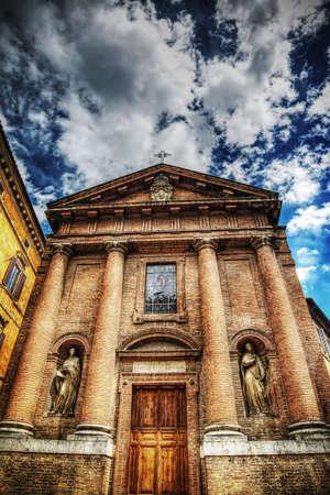 siena: San Cristoforo church in Siena, Italy