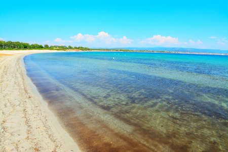skim: sandy coast in Fertilia, Sardinia Stock Photo