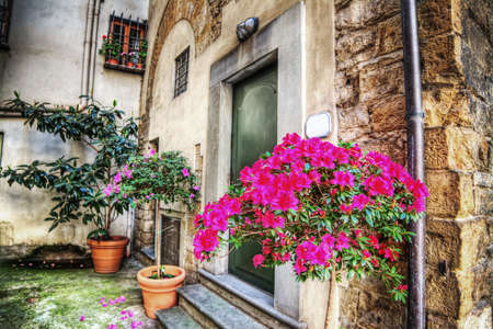 picturesque: picturesque corner in Florence, Italy Stock Photo