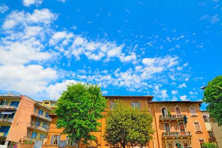 siena: beautiful buildings in Siena, Italy Stock Photo