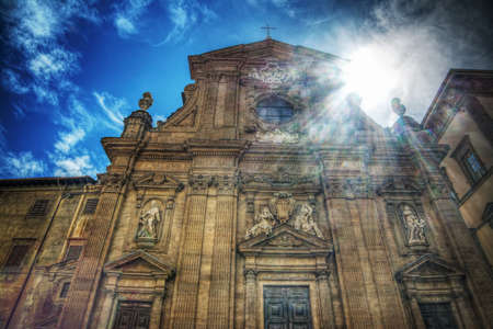 or san michele: San Michele and Gaetano church under a shining sun in Florence, Italy