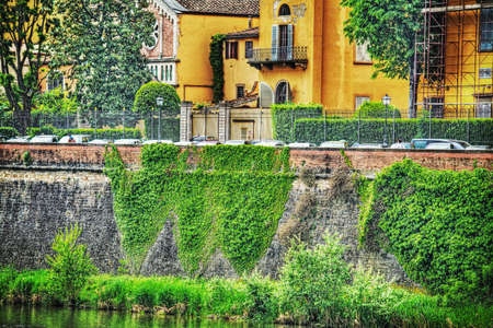 arno: Arno river bank in Florence, Italy