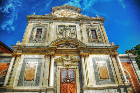 santo: Santo Stefano dei Cavalieri church in hdr tone mapping effect Stock Photo