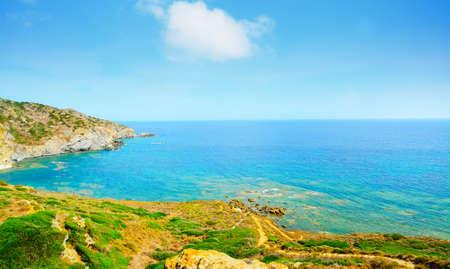 shoreline: colorful shoreline in Sardinia, Italy Stock Photo