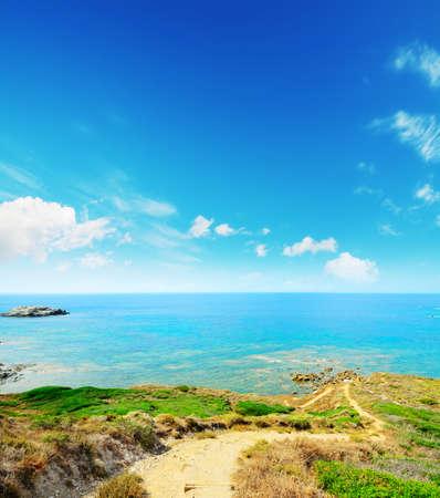 dirt path: dirt path to the sea in Sardinia, Italy