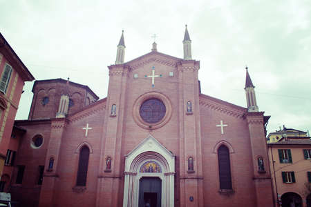 martino: San Martino church front view in Bologna, Italy