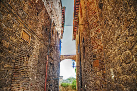 backstreet: narrow backstreet in San Gimignano, Italy