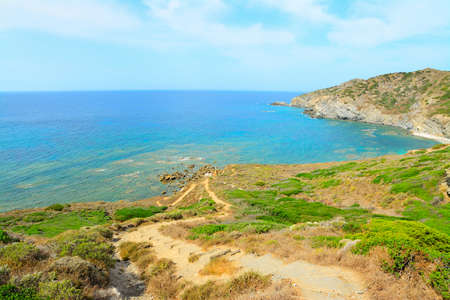 coastline: green coastline in Sardinia, Italy Stockfoto