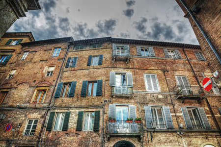 hdr: beautiful building in Siena in hdr, italy Stock Photo