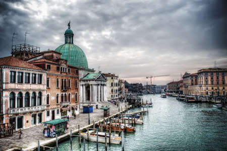 wall clouds: Venice Grand Canal with San Simeone dome in the background