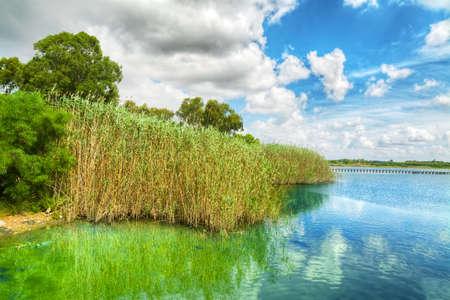 island paradise: calik lagoon under a cloudy sky, Sardinia