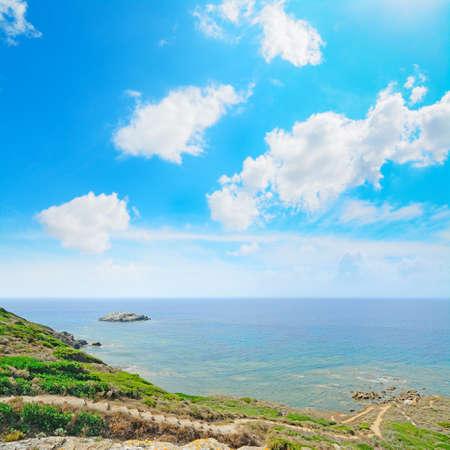 seaboard: rocky coast in Sardinia, Italy