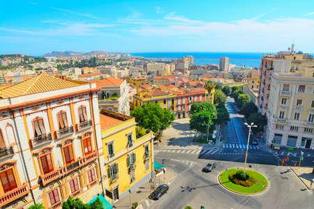 Cagliari cityscape on a clear day, Italy