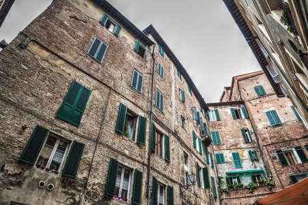 siena: Old buildings in Siena, Italy