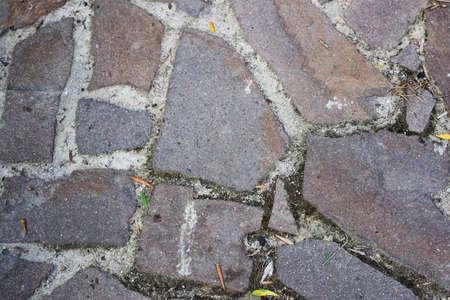 walk path: stone tiles of a walk path Stock Photo