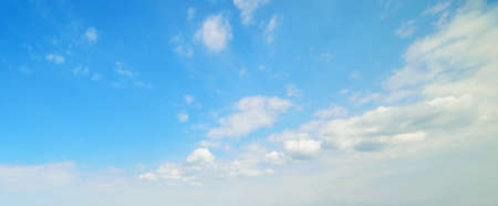 nimbi: blue sky with white, soft clouds Stock Photo