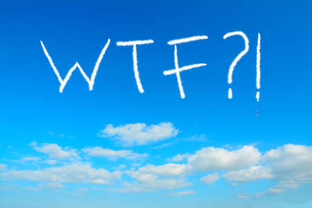 wtf: wtf?! written in the sky with contrails