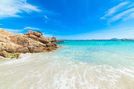 Capriccioli beach in Costa Smeralda, Italy
