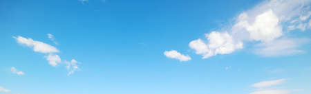 azure: blue sky with white, soft clouds Stock Photo