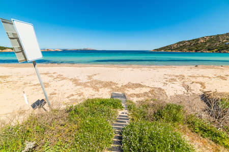 walk path: walk path in Cala Battistoni in Costa Smeralda, Italy