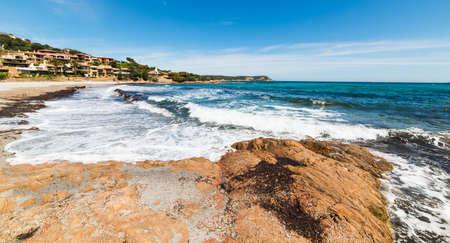 rough sea: rough sea in Piccolo Pevero beach, Sardinia Stock Photo